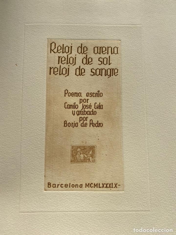 Libros antiguos: RARÍSIMA Y REPUDIADA OBRA DE CELA. ERÓTICA, AGUAFUERTES. FIRMA DE CELA Y DEL ARTISTA. VER FICHA - Foto 7 - 234465730