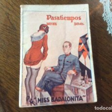 Livres anciens: REVISTA EROTICA NOVELA PASATIEMPOS Nº 31 MISS BADALONITA RICARDO ROVIRALTA ILUSTRACIONES ORIGINAL. Lote 240767915
