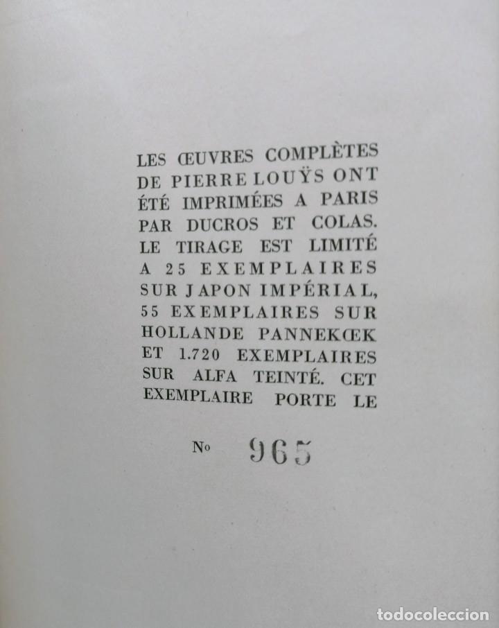 Libros antiguos: PIERRE LOUYS POESIES CONTES POETIQUE PSYCHE ARCHIPEL LITERATURE EDITIONS MONTAIGNE EROTICA - Foto 6 - 264807419