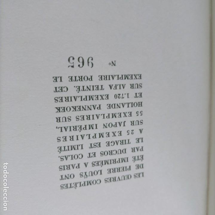 Libros antiguos: PIERRE LOUYS POESIES CONTES POETIQUE PSYCHE ARCHIPEL LITERATURE EDITIONS MONTAIGNE EROTICA - Foto 18 - 264807419