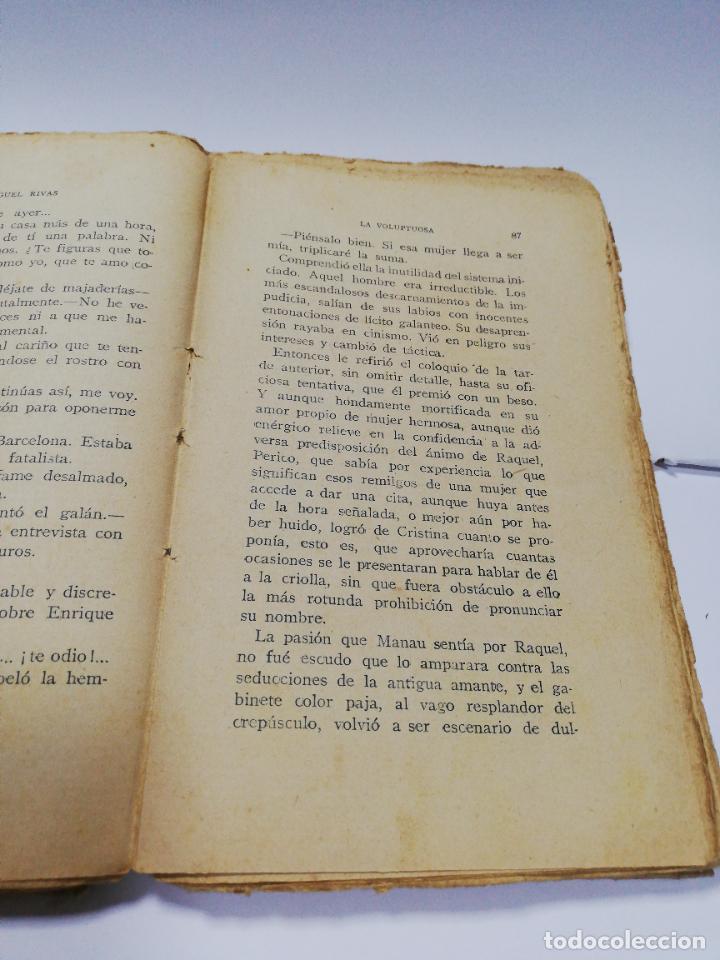 Libros antiguos: LA VOLUPTUOSA. MIGUEL RIVAS. BIBLIOTECA EROTICA. ANTONIO BAEZA. 1913. PAGS. 205. - Foto 6 - 284702658