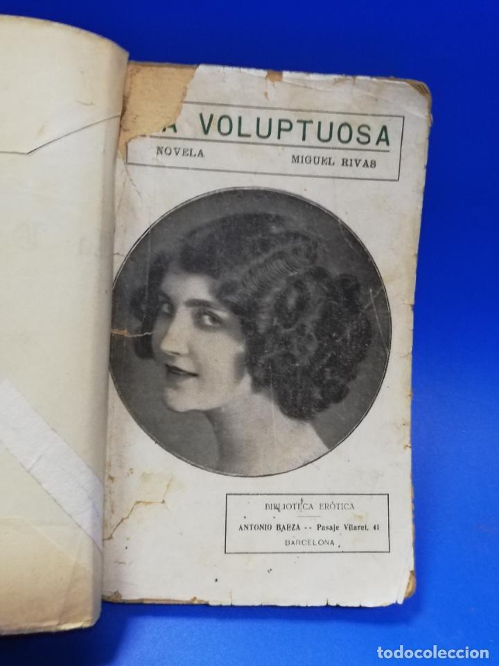 LA VOLUPTUOSA. MIGUEL RIVAS. BIBLIOTECA EROTICA. ANTONIO BAEZA. 1913. PAGS. 205. (Libros antiguos (hasta 1936), raros y curiosos - Literatura - Narrativa - Erótica)