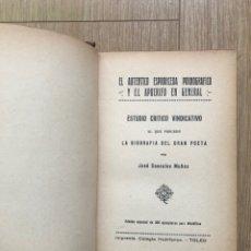 Libros antiguos: EL AUTÉNTICO ESPRONCEDA PORNOGRÁFICO EDICIÓN BIBLIÓFILO 300 EJEMP JOSÉ CASCALES MUÑOZ ERÓTICA 1932. Lote 286159728