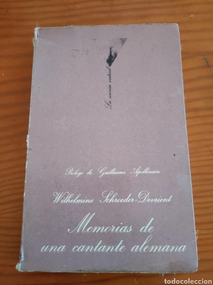 LIBRO MEMORIAS DE UNA CANTANTE ALEMANA (Libros antiguos (hasta 1936), raros y curiosos - Literatura - Narrativa - Erótica)