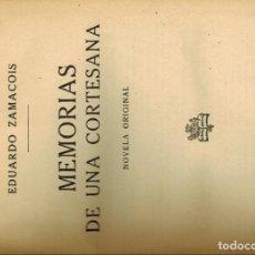 Libros antiguos: MEMORIAS DE UNA CORTESANA. Lote 288901073