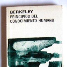 Libros antiguos: PRINCIPIOS DEL CONOCIMIENTO HUMANO - GEORGE BERKELEY . Lote 16536518
