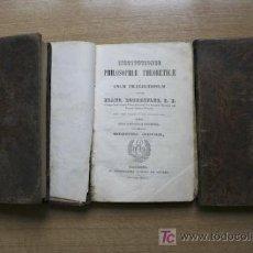 Libros antiguos: INSTITUTIONES PHILOSOPHIAE THEORETICAE IN USUM PRAELECTIONUM. ROTHENFLUE (FRANC.). Lote 18402399