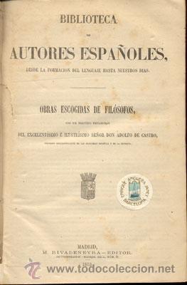 Libros antiguos: OBRAS ESCOGIDAS DE FILÓSOFOS – AÑO 1873 - Foto 2 - 45844510