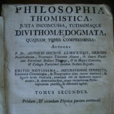 Libros antiguos: PHILOSOPHIA THOMISTICA 1783 LIBRO DE PERGAMINO TOMO II 403 PGS. Lote 27414167