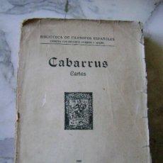 Libros antiguos: CABARRUS.CARTAS.505. Lote 26402724