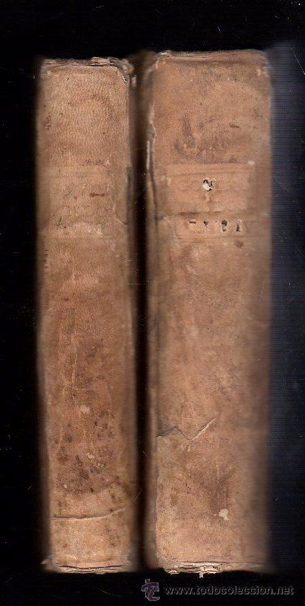 Libros antiguos: 1769,Madrid,Filosofía Thomística,dos tomos,pergamino,latín,regular estado,el de la foto - Foto 2 - 28119887