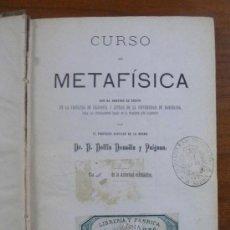 Libros antiguos: CURSO DE METAFÍSICA. DONADIU Y PUIGNAU, DELFIN. (1877).. Lote 29363544