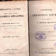 Libros antiguos: PHILOSOPHIAE NATURALIS SECUNDUM PRINCIPIA THOMAE AQUINATIS,FRIBURGI BRISGOVIAE SUMPTIBUS HERDER,1880. Lote 30010997