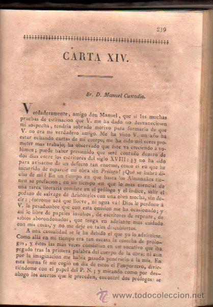 Libros antiguos: CARTAS FILOSÓFICAS DE ARISTÓTELES, POR FRANCISCO ALVARADO, EL FILÓSOFO RANCIO, TOMO V, AGUADO 1825 - Foto 3 - 30673478