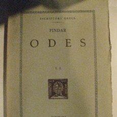 Libros antiguos: PINDAR. ODES. V.II. ESCRIPTORS GRECS. FUNDACIO BERNAT METGE 1959. TEXT I TRADUCCIO.. Lote 31155924
