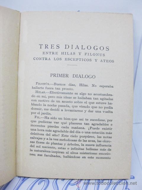 Libros antiguos: TRES DIÁLOGOS ENTRE HILAS Y FILONÚS. FILOSOFIA. 1923. JORGE BERKELEY. - Foto 4 - 32852376