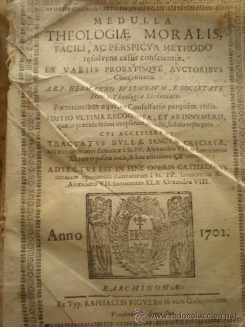 THEOLOGIA MORALIS 1702 (Libros Antiguos, Raros y Curiosos - Pensamiento - Filosofía)