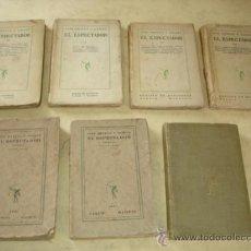 Libros antiguos: EL ESPECTADOR - JOSE ORTEGA Y GASSET - SIETE PRIMEROS TOMOS - VER DESCRIPCION Y FOTOS. Lote 36516575