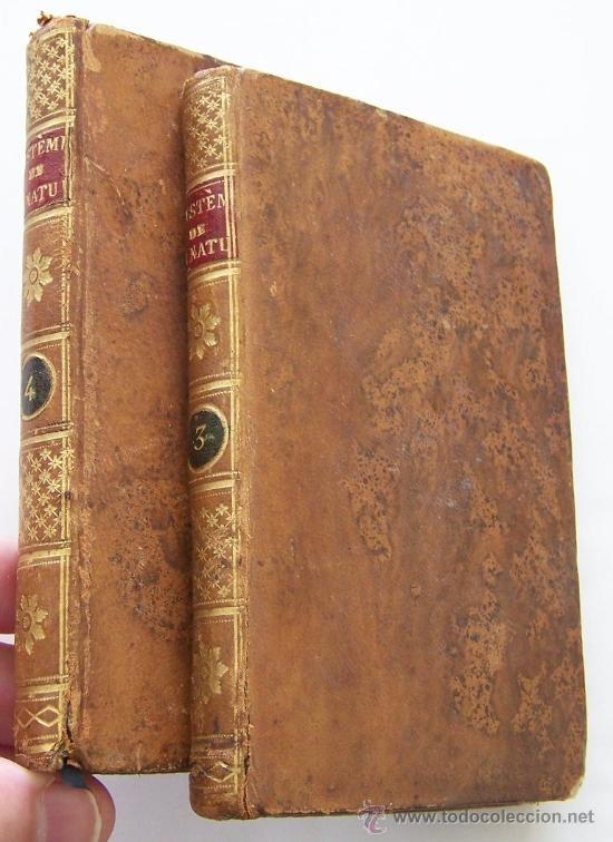 SYSTEME DE LA NATURE 1780 HOLBACH LOIS DU MONDE PHYSIQUE ET DU MONDE MORAL 2 VOLUMENES (Libros Antiguos, Raros y Curiosos - Pensamiento - Filosofía)