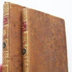 Libros antiguos: SYSTEME DE LA NATURE 1780 HOLBACH LOIS DU MONDE PHYSIQUE ET DU MONDE MORAL 2 VOLUMENES. Lote 36966535