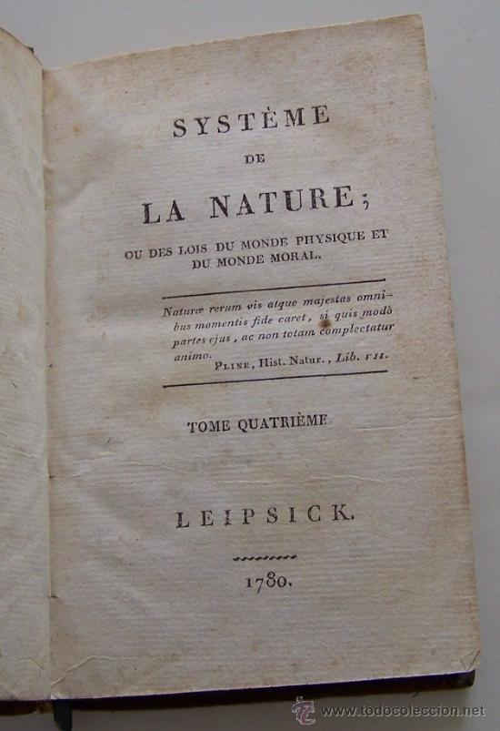 Libros antiguos: SYSTEME DE LA NATURE 1780 Holbach Lois du monde physique et du monde moral 2 volumenes - Foto 3 - 36966535