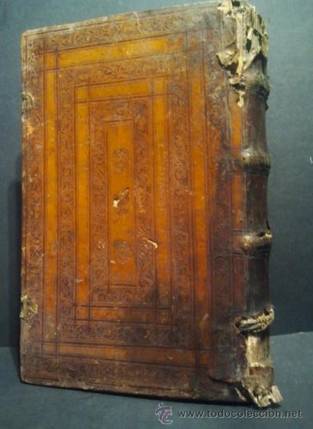 Libros antiguos: Comentarios sobre la 1ª parte de Santo Tomás. Enc. piel época estilo plateresco. Salamanticae 1587. - Foto 3 - 37432356