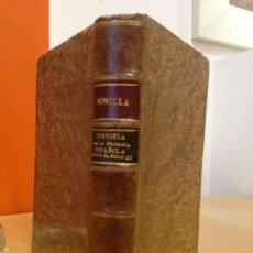 Libros antiguos: 1918.- HISTORIA DE LA FILOSOFIA ESPAÑOLA (SIGLOS VIII-XII, JUDIOS). ADOLFO BONILLA Y SAN MARTIN. Lote 38119774