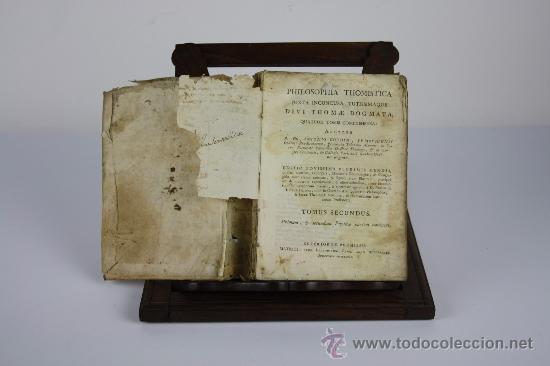 5905- PHILOSOPHIA THOMISTICA. ANTONIO GOUDIN. EDIT. BENEDICTUM CANO. 1789. (Libros Antiguos, Raros y Curiosos - Pensamiento - Filosofía)