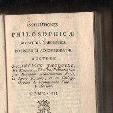 Libros antiguos: INSTITUCIONES FILOSÓFICAS,TOMO III Y IV,MADRID,1802,PERGAMINO,,PLANOS,VER LAS FOTOS. Lote 58538819