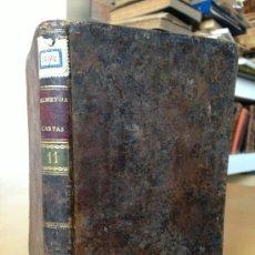 Libros antiguos: 1803.- CARTAS FISICO-MATEMATICAS DE TEODOSIO A EUGENIO. TEODORO ALMEUDA. TOMO 11. 7 LAMINAS DESPLEGA. Lote 38721650