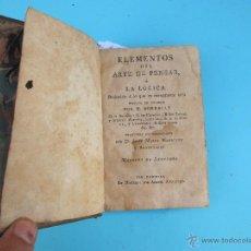 ELEMENTOS DEL ARTE DE PENSAR. POR M. BORRELLY. TRADUC. J.M. MAGALLON. EN MADRID: POR AZNAR. AÑO 1797