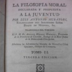 Libros antiguos: LA FILOSOFIA MORAL DECLARADA A LA JUVENTUD,1790, LUIS ANTONIO MURATORI. Lote 40046644