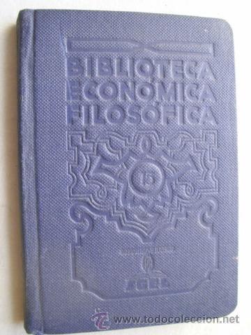 BIBLIOTECA ECONÓMICA FILOSÓFICA (VOL XV) RICHTER, J.P. (Libros Antiguos, Raros y Curiosos - Pensamiento - Filosofía)
