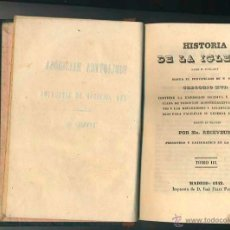 Libros antiguos: LIBRO RELIGION: HISTORIA DE LA IGLESIA. POR MR. RECEVEUR.TOMO XI MADRID AÑO 1842. Lote 40180809