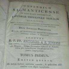 Libros antiguos: COMPENDIUM SALMANTICENSE IN DUOS TOMOS, POR ANTONIO DE SAN JOSÉ. PAMPLONA 1791 SALAMANCA. Lote 40952063