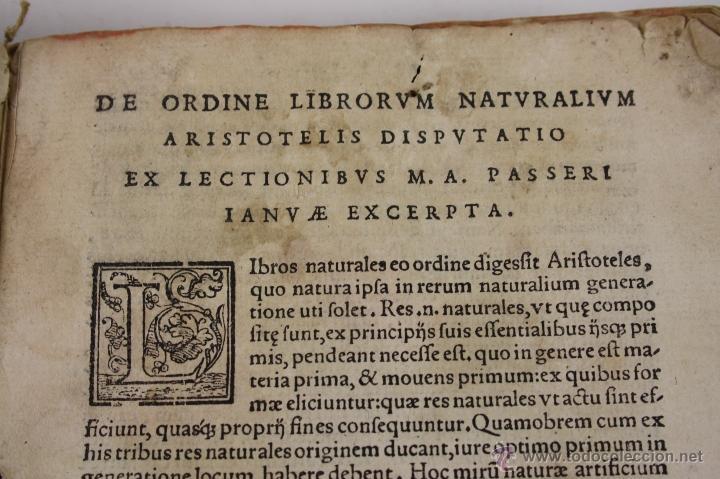Libros antiguos: 5948- ARISTOTELIS DE ANIMA.LIBRI TRES. CUM AVERROIS COMENTARIIS, SOPHIANO-PASSERII, VENETIIS 1572 - Foto 5 - 40970561