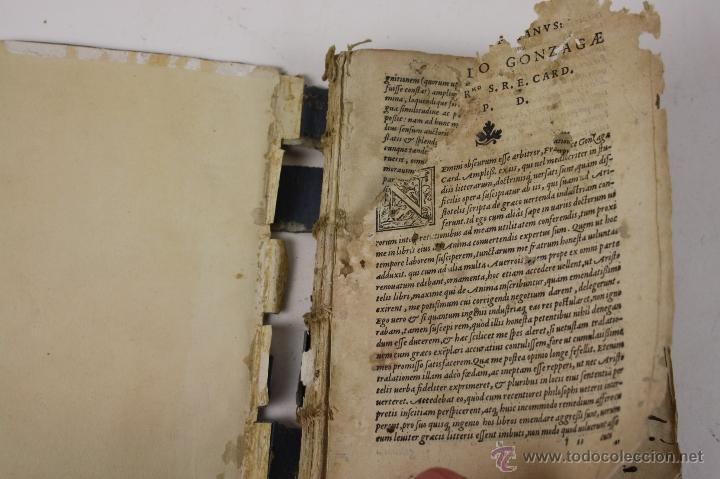 Libros antiguos: 5948- ARISTOTELIS DE ANIMA.LIBRI TRES. CUM AVERROIS COMENTARIIS, SOPHIANO-PASSERII, VENETIIS 1572 - Foto 7 - 40970561