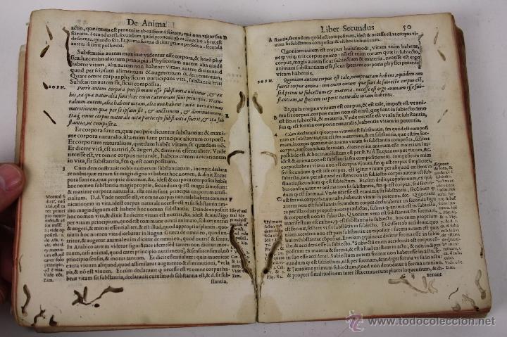 Libros antiguos: 5948- ARISTOTELIS DE ANIMA.LIBRI TRES. CUM AVERROIS COMENTARIIS, SOPHIANO-PASSERII, VENETIIS 1572 - Foto 9 - 40970561