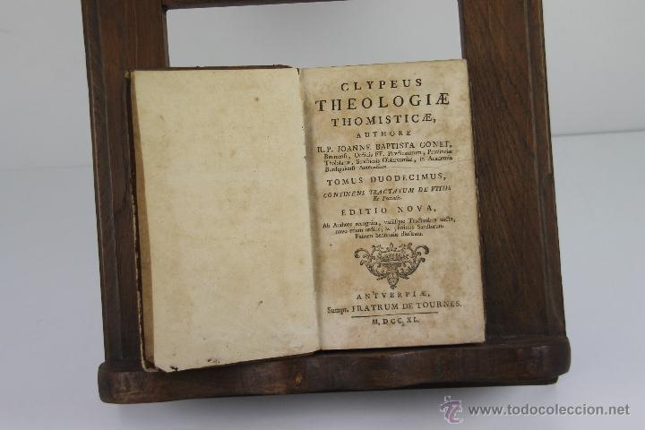 Libros antiguos: 4187- CLYPEUS THEOLOGIAE THOMISTICAE. JOANNE BAPTISTA GONET. EDIT. FRATRUM TOURNES 1739. 6 VOL. - Foto 4 - 40984949