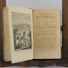 Libros antiguos: 4192- LE COMPERE MATTHIEU. JOSEPH DU LAURENS. IMP. DE PATRIS. 1796. 3 VOL. . Lote 40987138