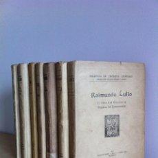 Libros antiguos: BIBLIOTECA DE FILÓSOFOS ESPAÑOLES. 7 TOMOS.DIRIGIDA POR E.OVEJERO Y MAURY. 1928-35.VARIAS IMPRENTAS.. Lote 41036964