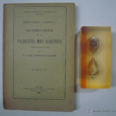 Libros antiguos: DIOGENES LAERCIO.VIDAS, OPINIONES Y SENTENCIAS DE LOS FILOSOFOS MÁS ILUSTRES. 1921.. Lote 41609991