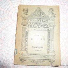 Libros antiguos: BIBLIOTECA ECONÓMICA FILOSÓFICA. BACON. NOVUM ORGANUM. (TOMO II) 1892. MADRID.. Lote 41865743