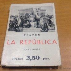 Libros antiguos: LA REPUBLICA DE PLATON - ER2. Lote 62012008