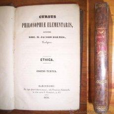 Libros antiguos: BALMES, JACOBO. CURSUS PHILOSOPHIAE ELEMENTARIS. Lote 42727208