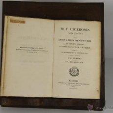 Libros antiguos: 4630- M.T. CICERONIS. EPISTOLARIUM OMNIUM LIBRI. EDIT. NICOLAUS ELIGIUS. 1827/1828 3 TOMOS. . Lote 43435845