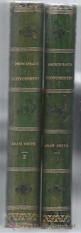 RECHERCHES SUR LA NATURE ET LES CAUSES DE LA RICHESSE DES NATIONS, ADAM SMITH, PARIS 1843 (Libros Antiguos, Raros y Curiosos - Pensamiento - Filosofía)