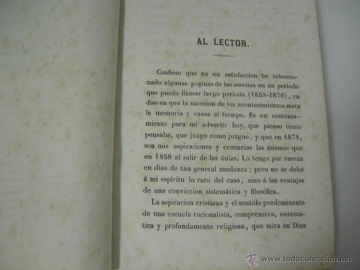 Libros antiguos: ESTUDIOS CRITICOS DE FILOSOFIA, POLITICA Y LITERATURA POR F. DE PAULA CANALEJAS, BAILLY 1872 - Foto 6 - 43999676