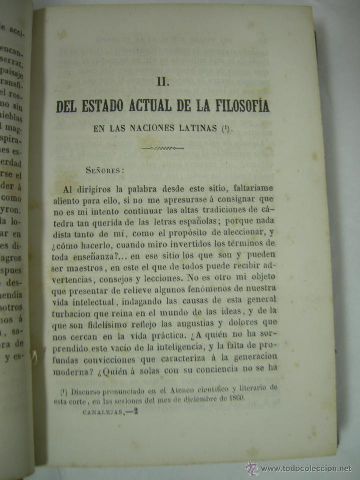 Libros antiguos: ESTUDIOS CRITICOS DE FILOSOFIA, POLITICA Y LITERATURA POR F. DE PAULA CANALEJAS, BAILLY 1872 - Foto 8 - 43999676