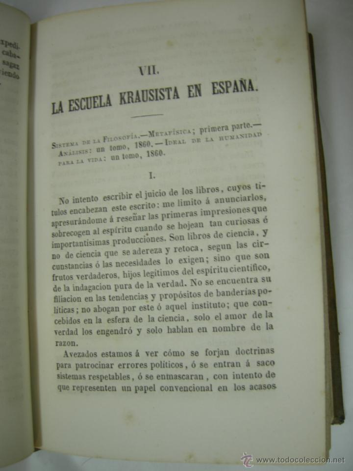 Libros antiguos: ESTUDIOS CRITICOS DE FILOSOFIA, POLITICA Y LITERATURA POR F. DE PAULA CANALEJAS, BAILLY 1872 - Foto 10 - 43999676